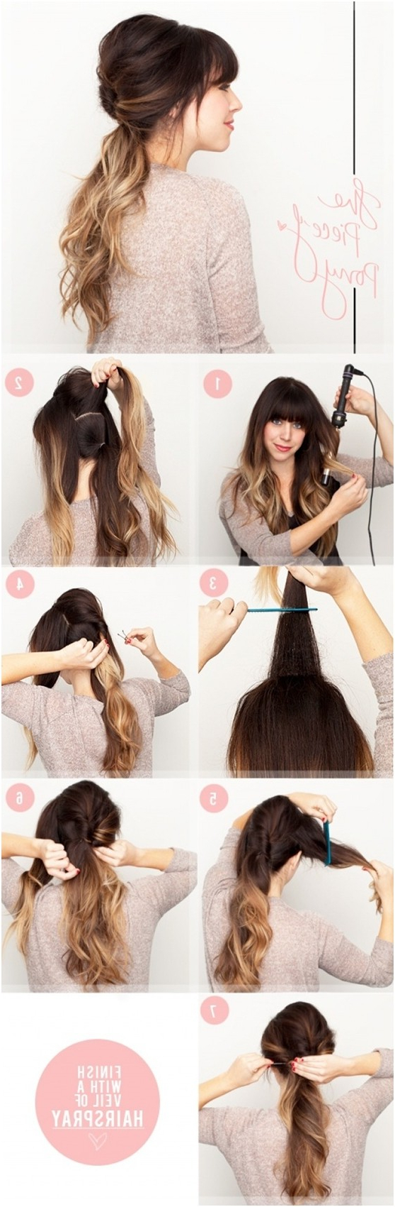 Most Up To Date Ponytail Layered Long Hairstyles Inside 15 Cute And Easy Ponytail Hairstyles Tutorials – Popular Haircuts (View 15 of 20)
