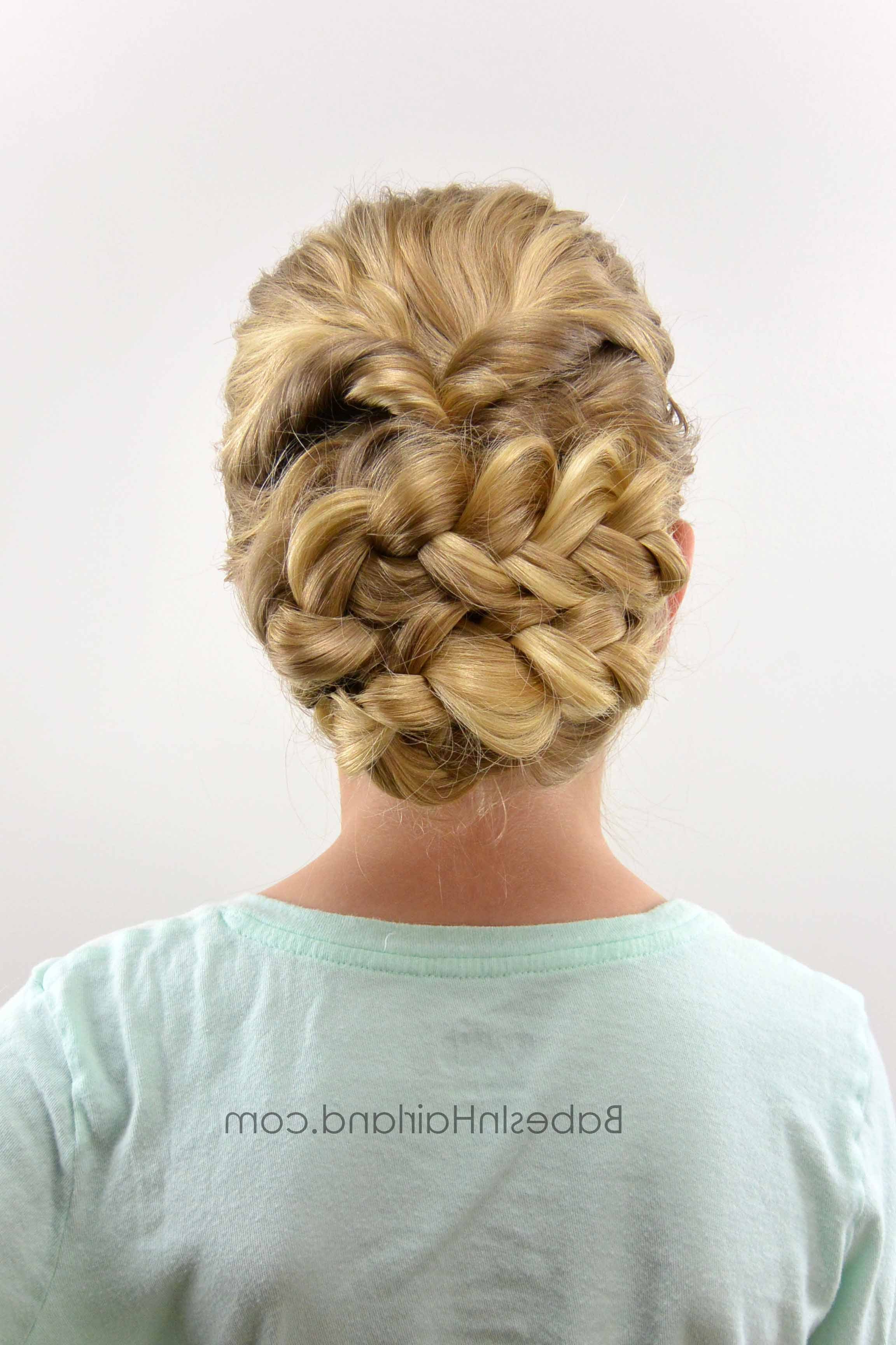 Most Up To Date Romantic Prom Updos With Braids Within Easy Romantic Braided Updo – Babes In Hairland (View 15 of 20)