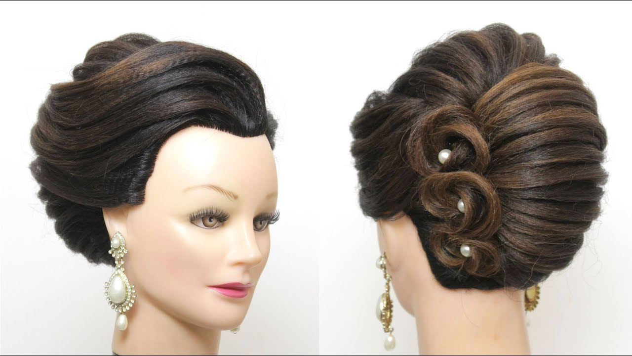 New French Roll Hairstyle. Bridal Prom Updo (View 14 of 20)
