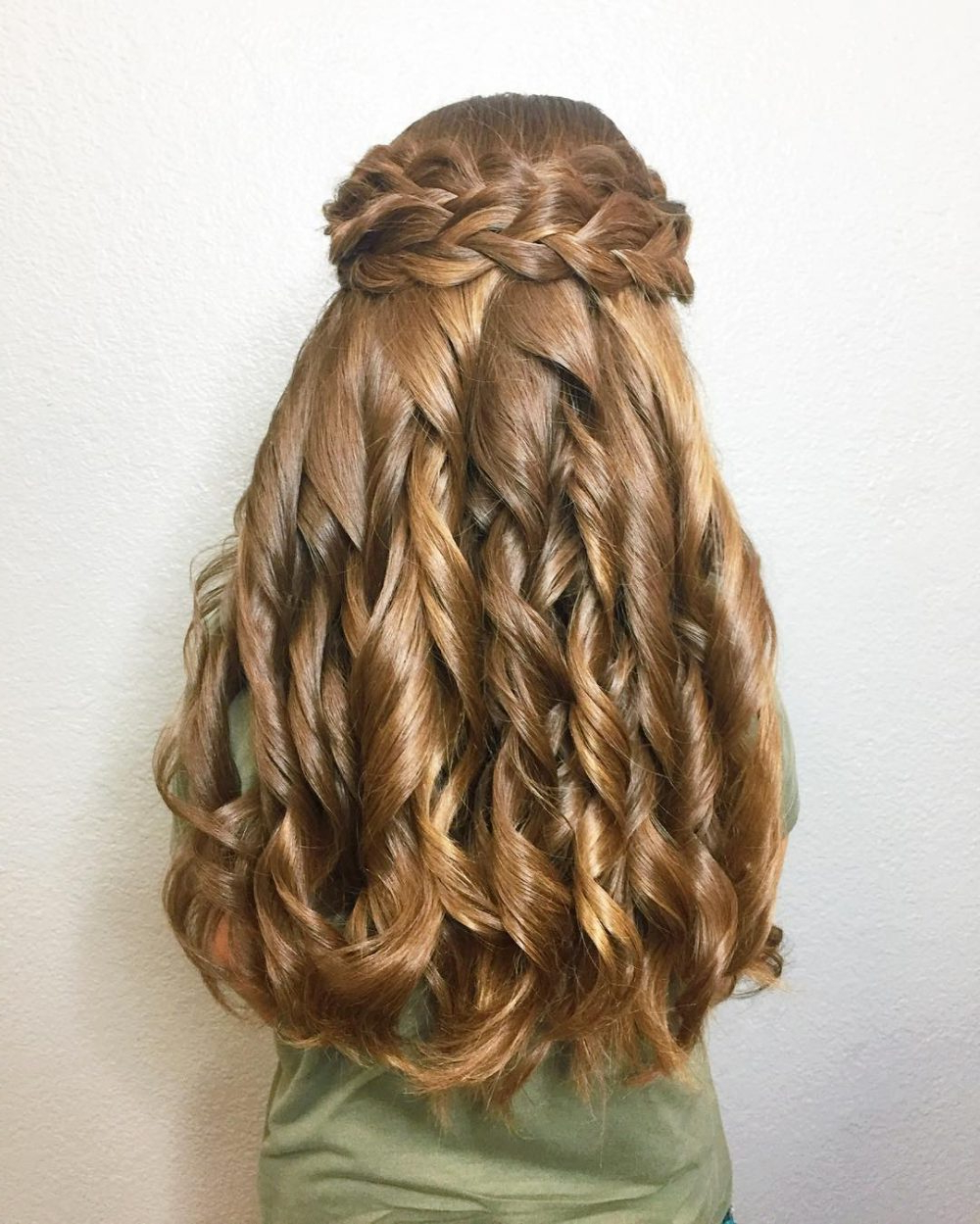 Newest Double Crown Braid Prom Hairstyles Throughout 23 Cute Prom Hairstyles For 2019 – Updos, Braids, Half Ups & Down Dos (View 17 of 20)