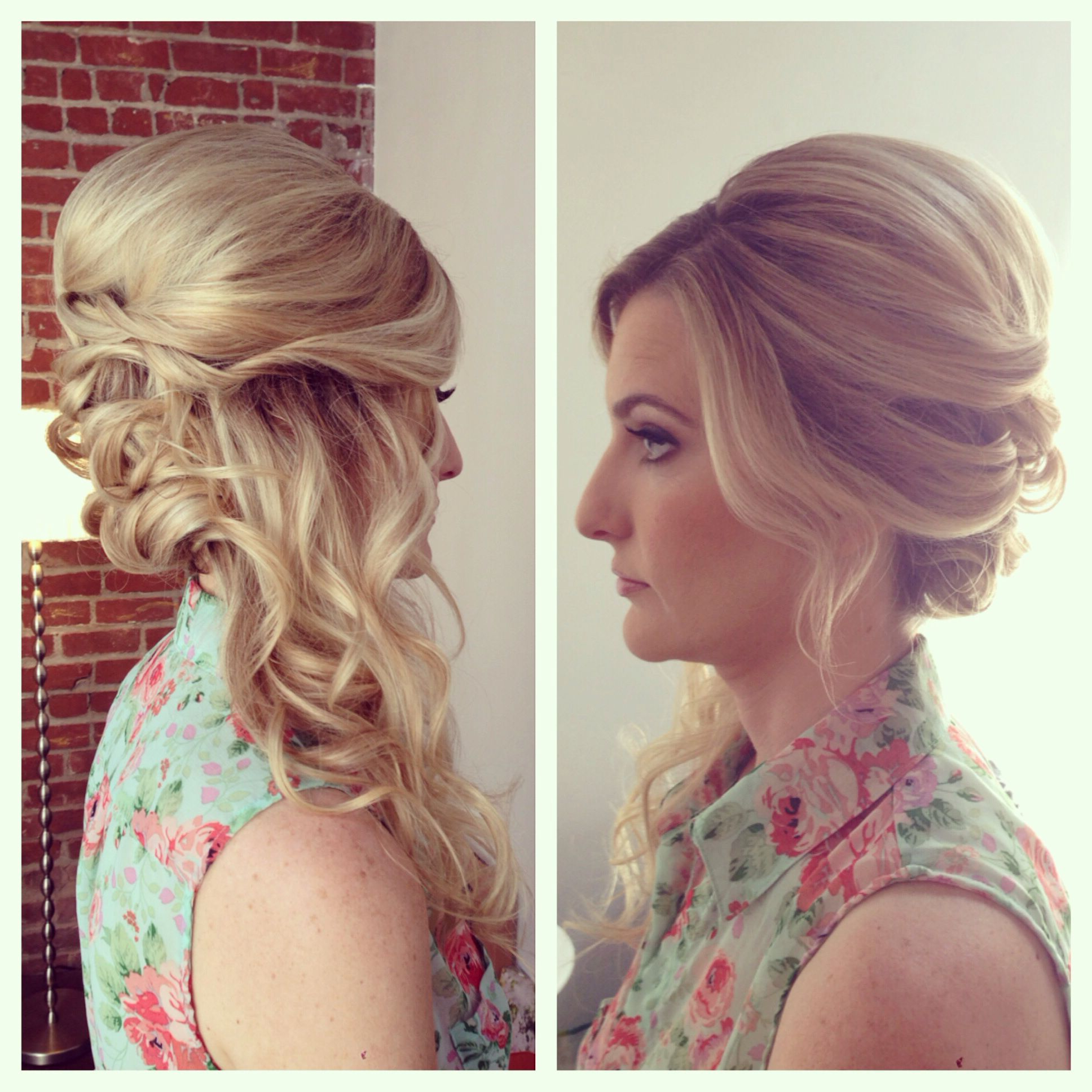 Newest Pinned Up Curls Side Swept Hairstyles Pertaining To Side Swept Updo, Side Swept Hair, Curls, Wedding Hair, Bridal Hair (View 17 of 20)