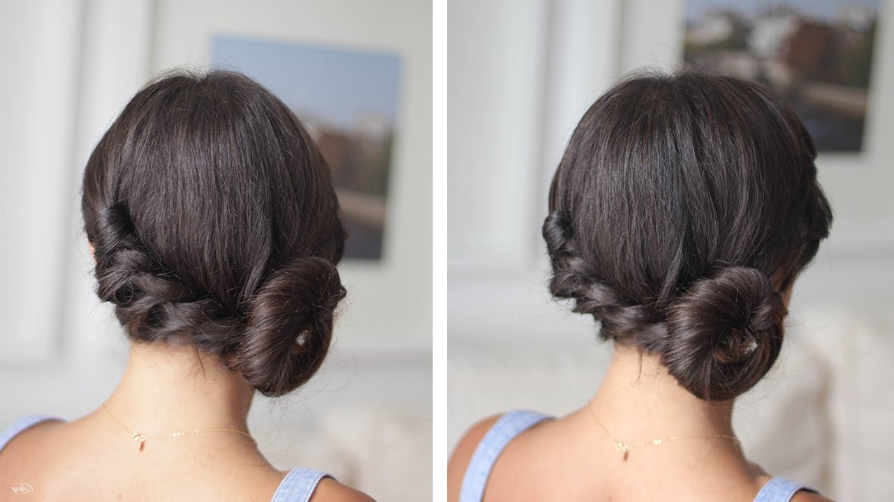 Newest Spirals Side Bun Prom Hairstyles Pertaining To Easy Twisted Side Bun – Youtube (View 6 of 20)