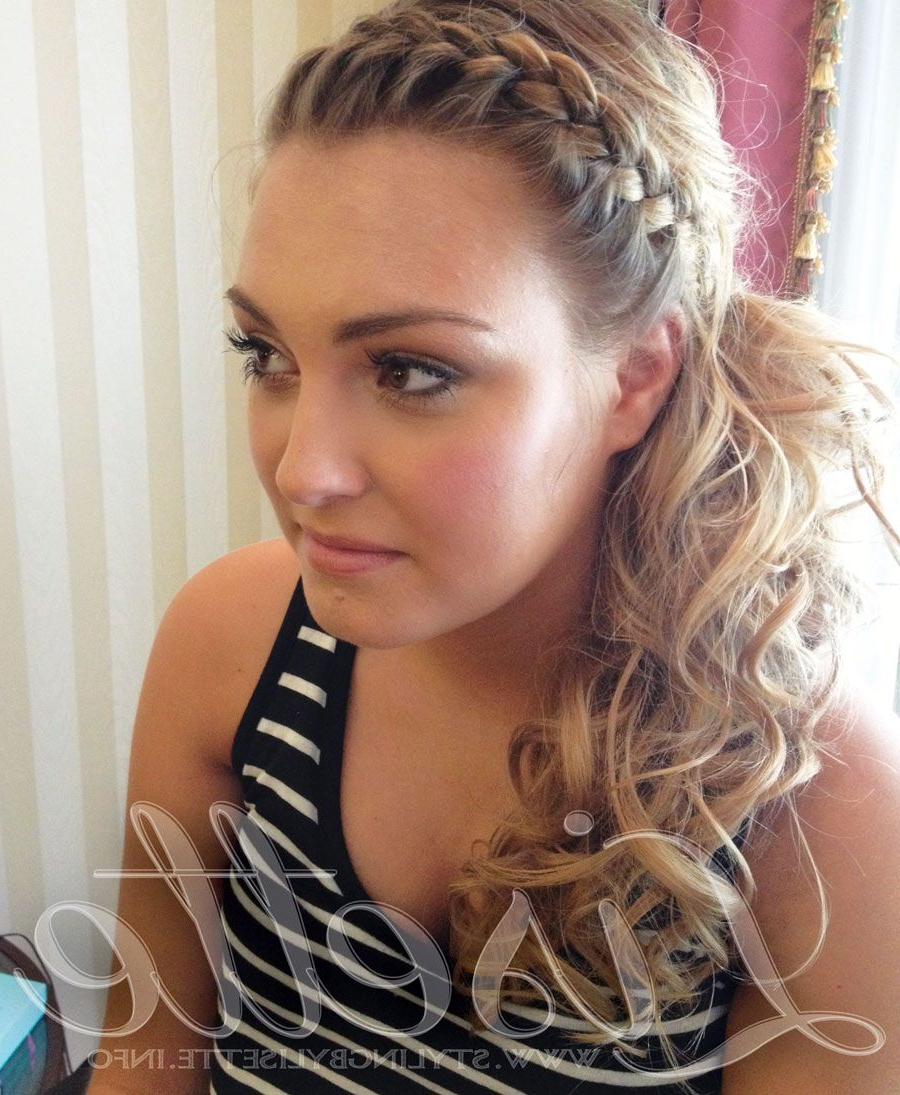 Perfect Side Ponytail With Braid For Wedding, Bride & Bridesmaid In Most Recent Textured Side Braid And Ponytail Prom Hairstyles (View 17 of 20)