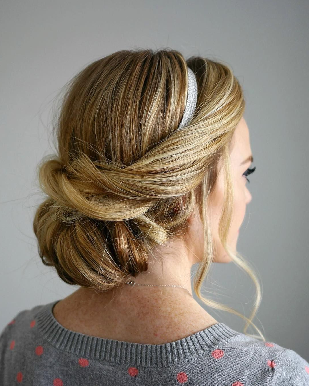Popular Classic Roll Prom Updos With Braid With Regard To Love This Rolled Low Updo (View 15 of 20)