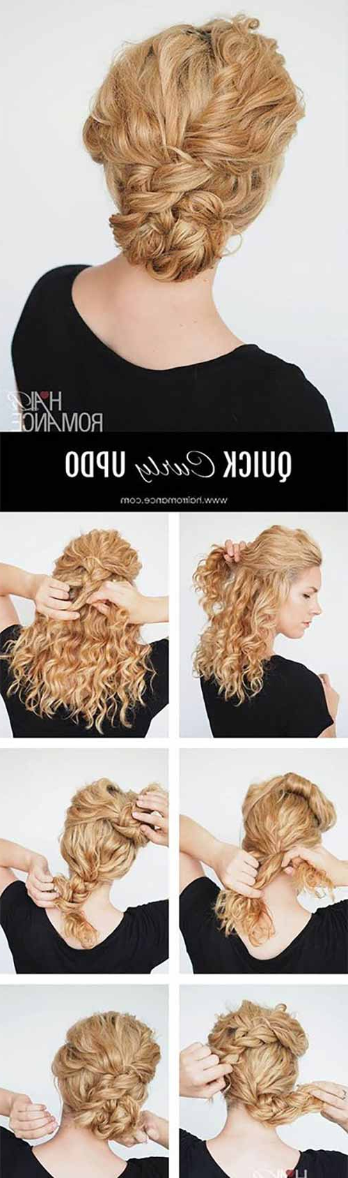 Popular Easy Curled Prom Updos For 20 Incredibly Stunning Diy Updos For Curly Hair (Gallery 9 of 20)