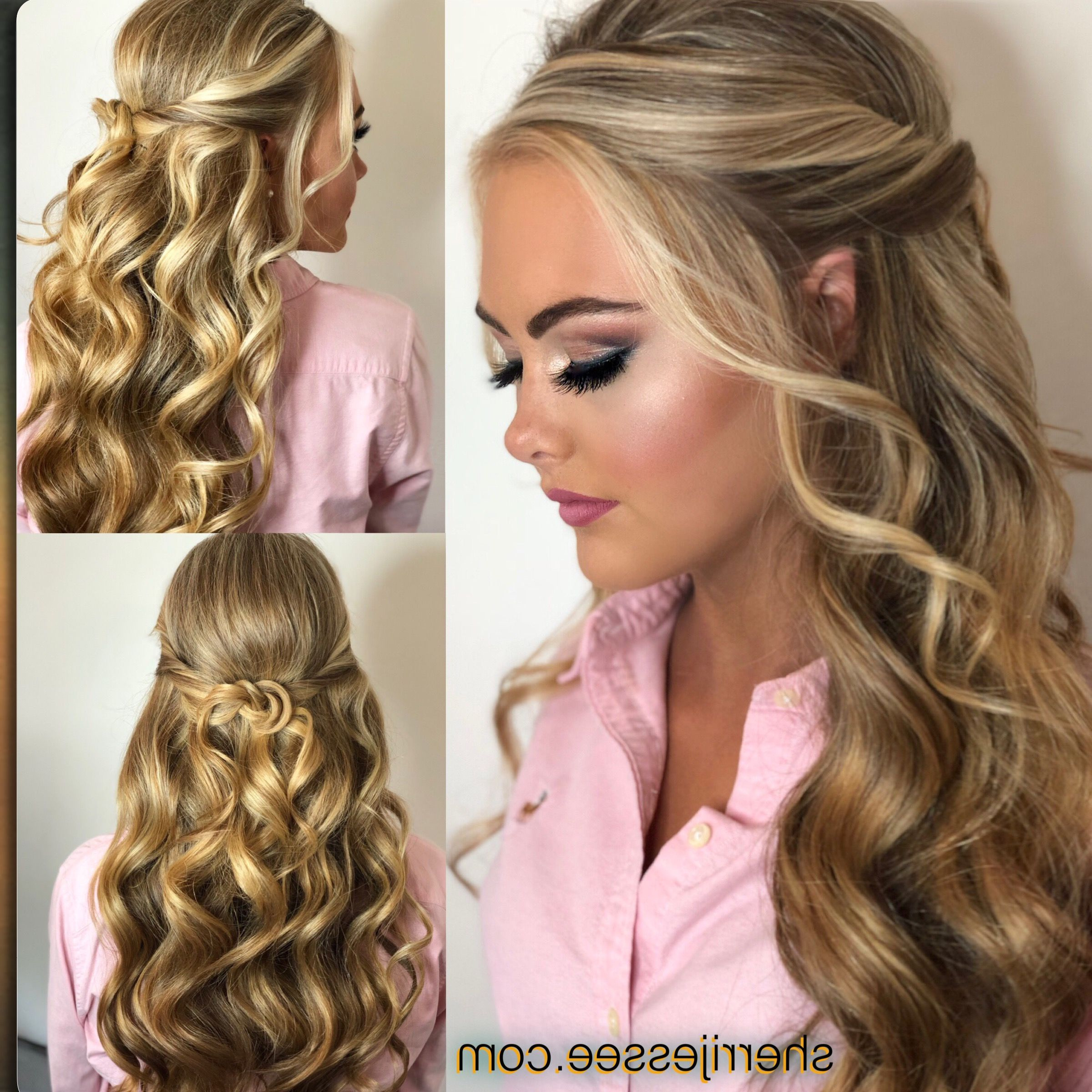 Popular Easy Curled Prom Updos Intended For Hairstyles : Homecoming Hairstyles For Curly Hair Most Likeable Prom (Gallery 16 of 20)