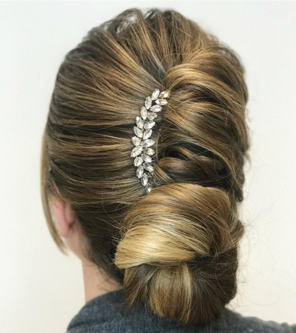 Popular French Roll Prom Hairstyles Intended For 37 Inspiring Prom Updos For Long Hair For 2019 #inspo (View 15 of 20)