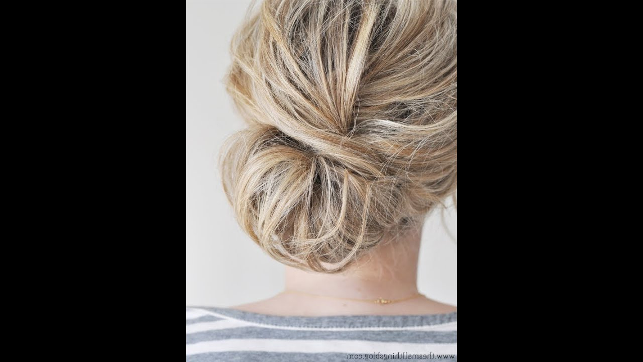 Preferred Asymmetrical Knotted Prom Updos Throughout Low Chignon Hair Tutorial – Youtube (Gallery 18 of 20)