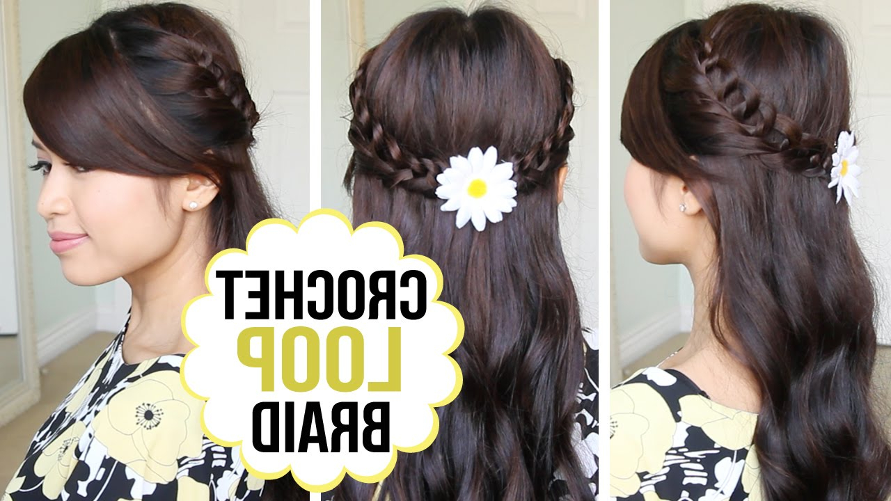 Preferred Half Prom Updos With Bangs And Braided Headband With Crochet Loop Braid Hair Tutorial (View 16 of 20)