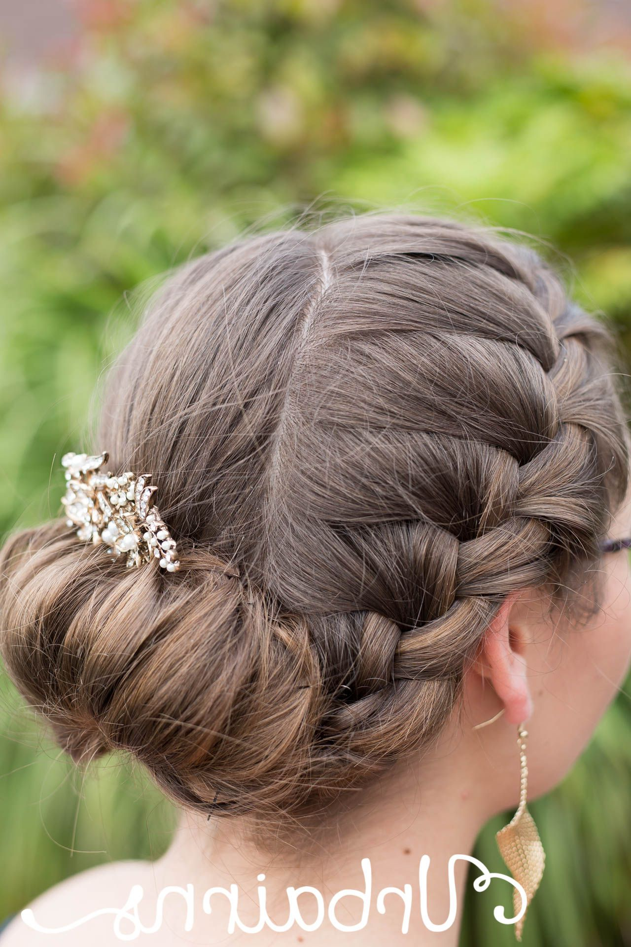 Featured Photo of Jewelled Basket Weave Prom Updos