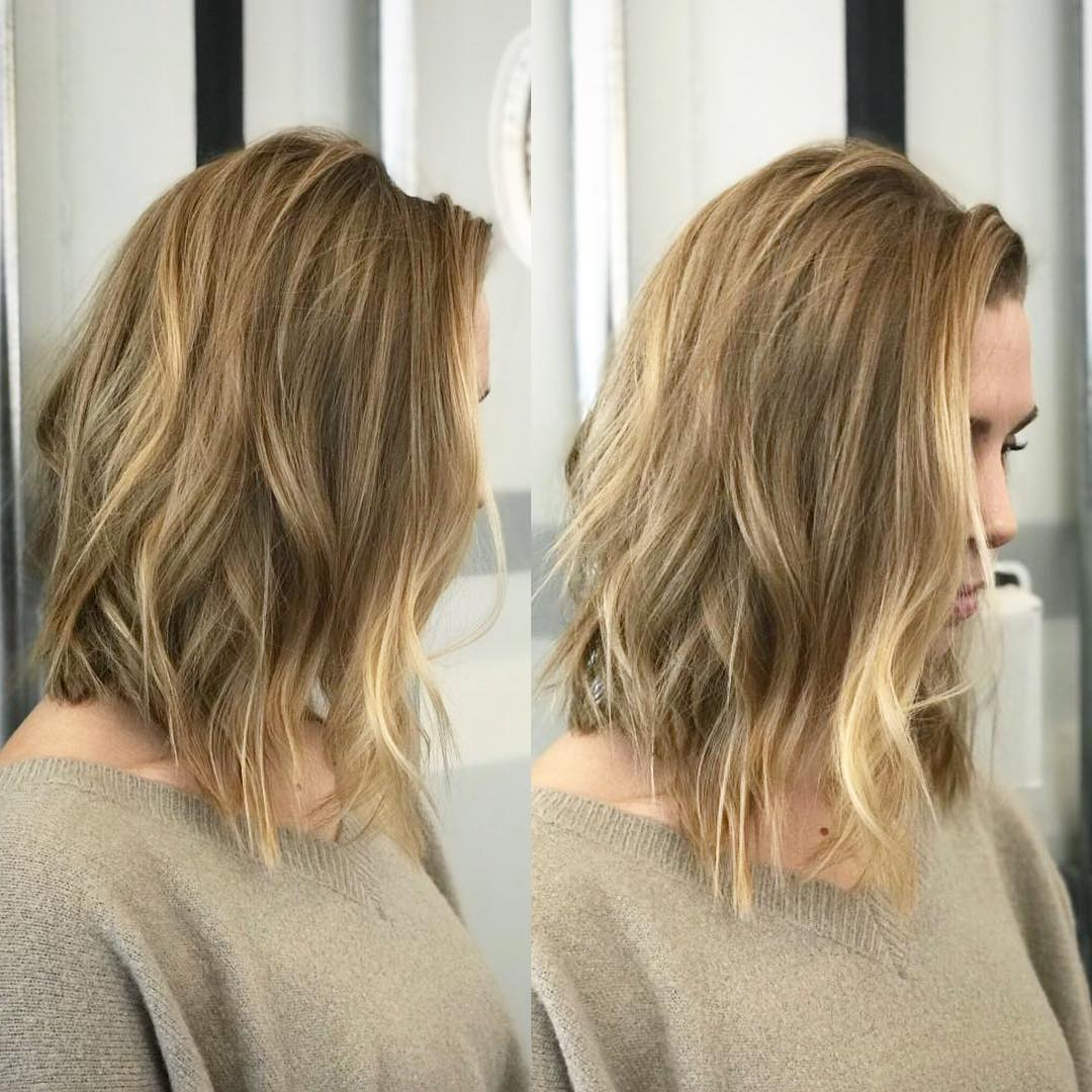 Preferred Straight Across Haircuts And Varied Layers With Regard To 10 Super Cute And Easy Medium Hairstyles  (View 15 of 20)