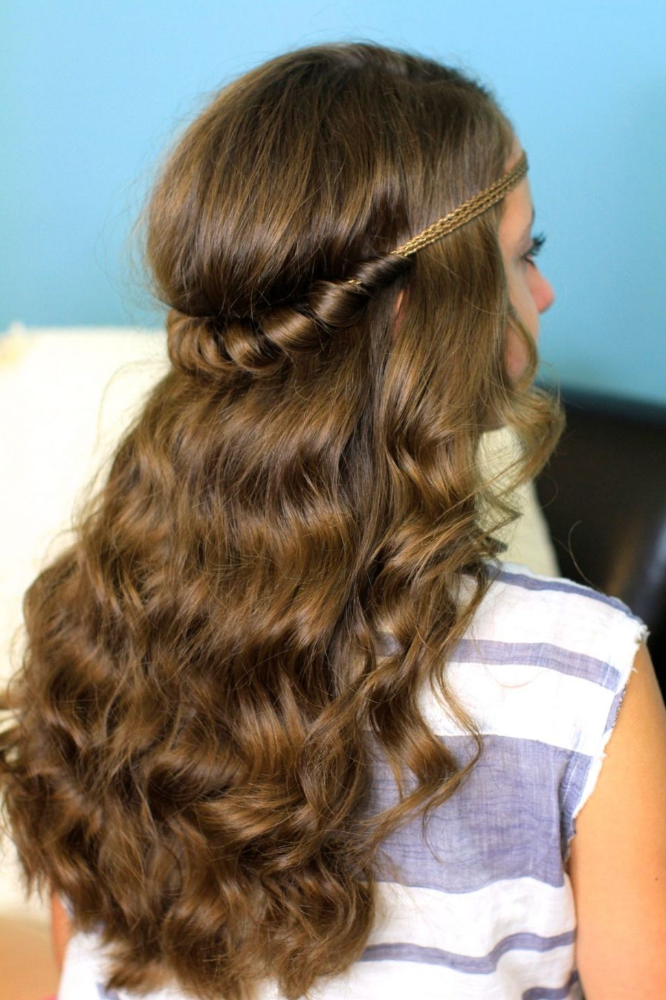 Preferred Teased Prom Updos With Cute Headband Pertaining To Hairstyles : Cute Up Hairstyles Headband Twist Half Down Along With (Gallery 11 of 20)