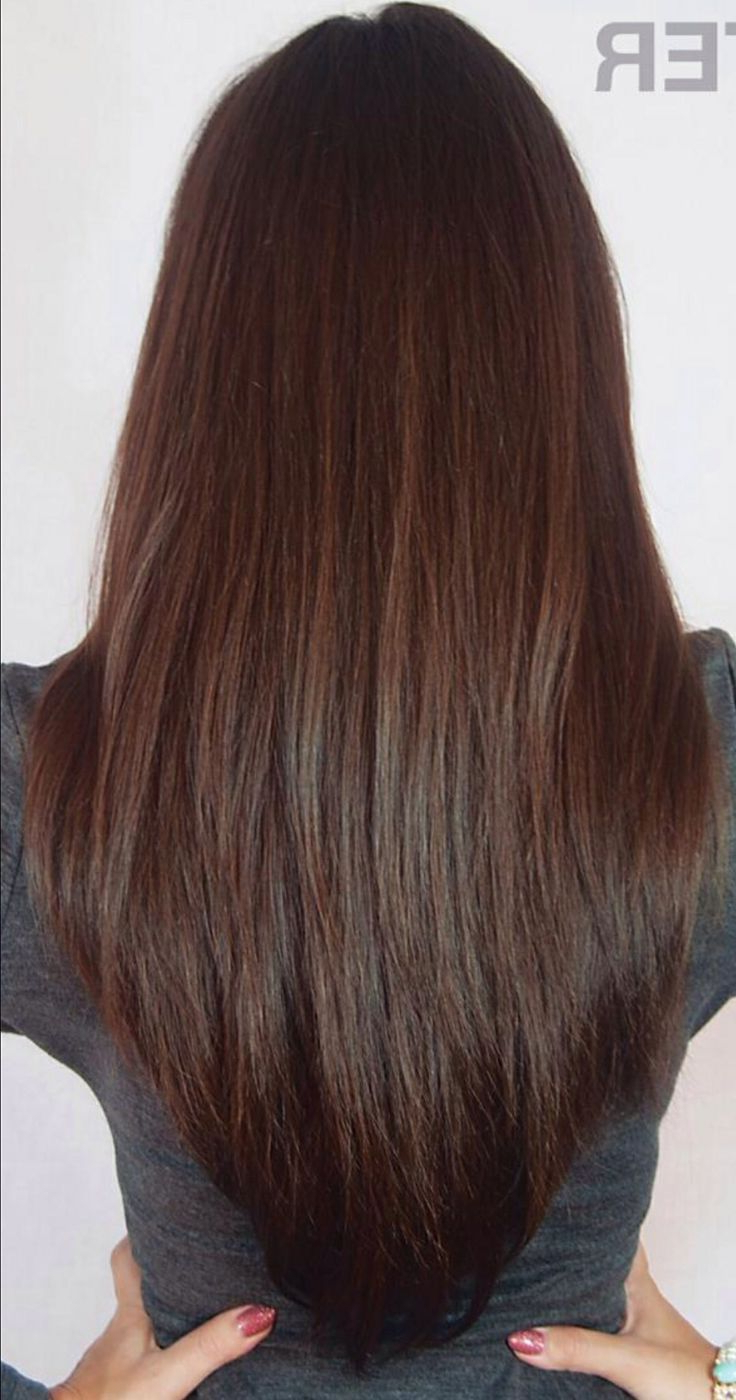 Preferred V Cut Layers Hairstyles For Straight Thick Hair Intended For Long Layered V Cut Haircuts Back View The V Cut Hairstyle (Gallery 1 of 20)