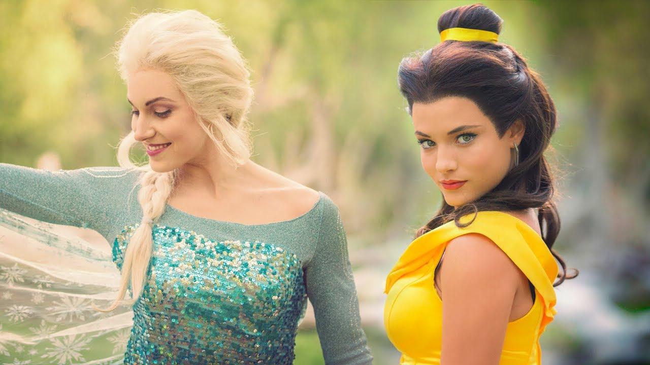 Princess Dance Battle! Belle Vs Elsa! // (Full Frame + New Song Within Well Liked Princess Like Side Prom Downdos (Gallery 2 of 20)