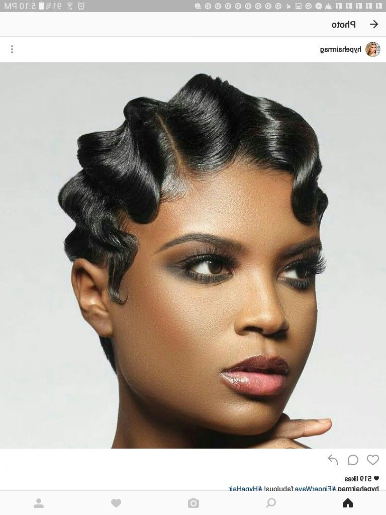 Projects To Try In 2019… With Regard To Most Up To Date Flowing Finger Waves Prom Hairstyles (Gallery 4 of 20)