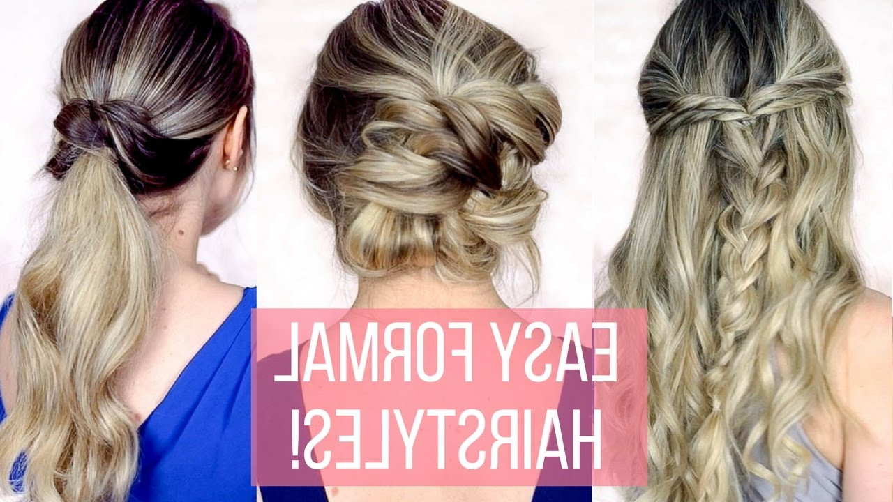 Prom / Formal Hairstyles For Long Hair – Hair Tutorial – Youtube With Popular Fancy Knot Prom Hairstyles (View 16 of 20)