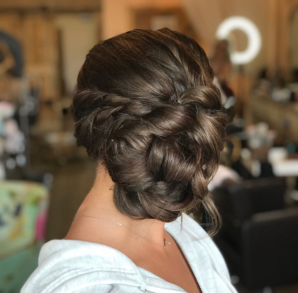 Prom Hair And Makeup — Peach Blossom Bridal Regarding Most Current Blooming French Braid Prom Hairstyles (View 12 of 20)