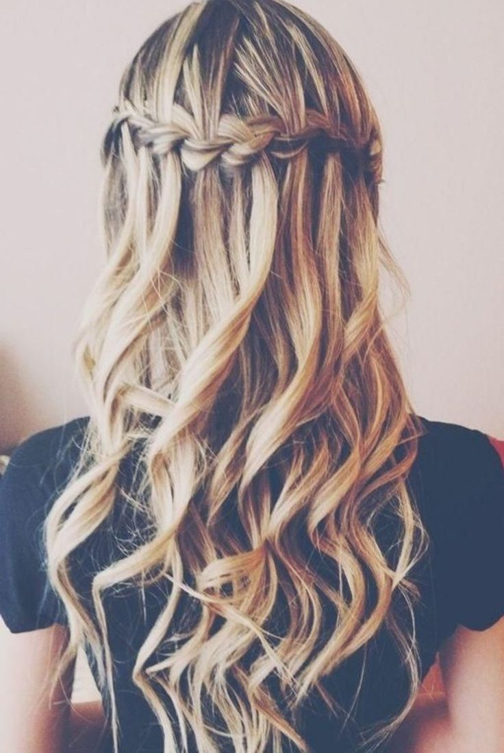 Prom Hairstyles For Long Hair Trending In 2019 Intended For Well Liked Cascading Waves Prom Hairstyles For Long Hair (Gallery 8 of 20)
