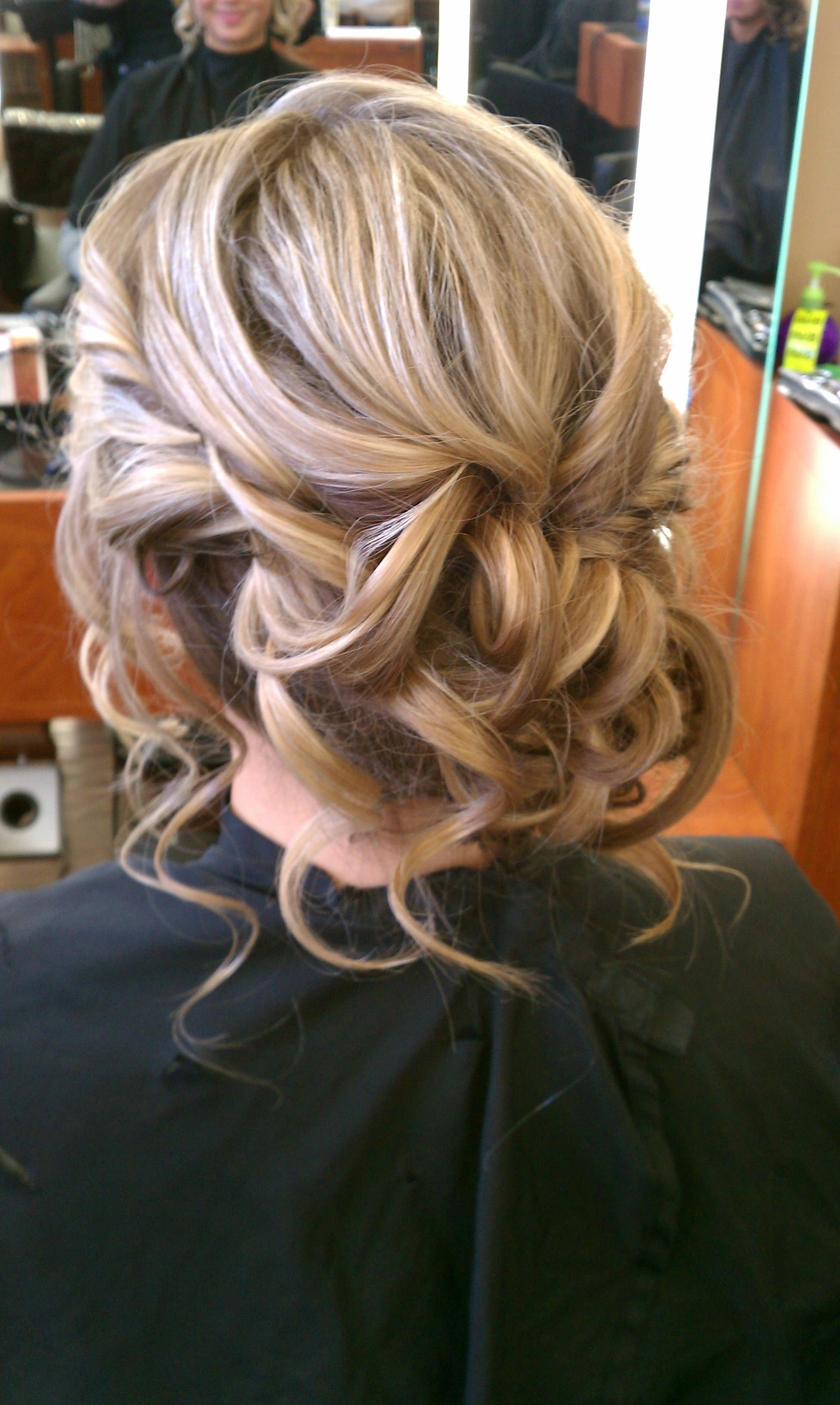 Prom, Homecoming, Wedding, Bridal, Bridesmaid, Low, Hair, Upstyle For Latest Twisted And Curled Low Prom Updos (View 15 of 20)