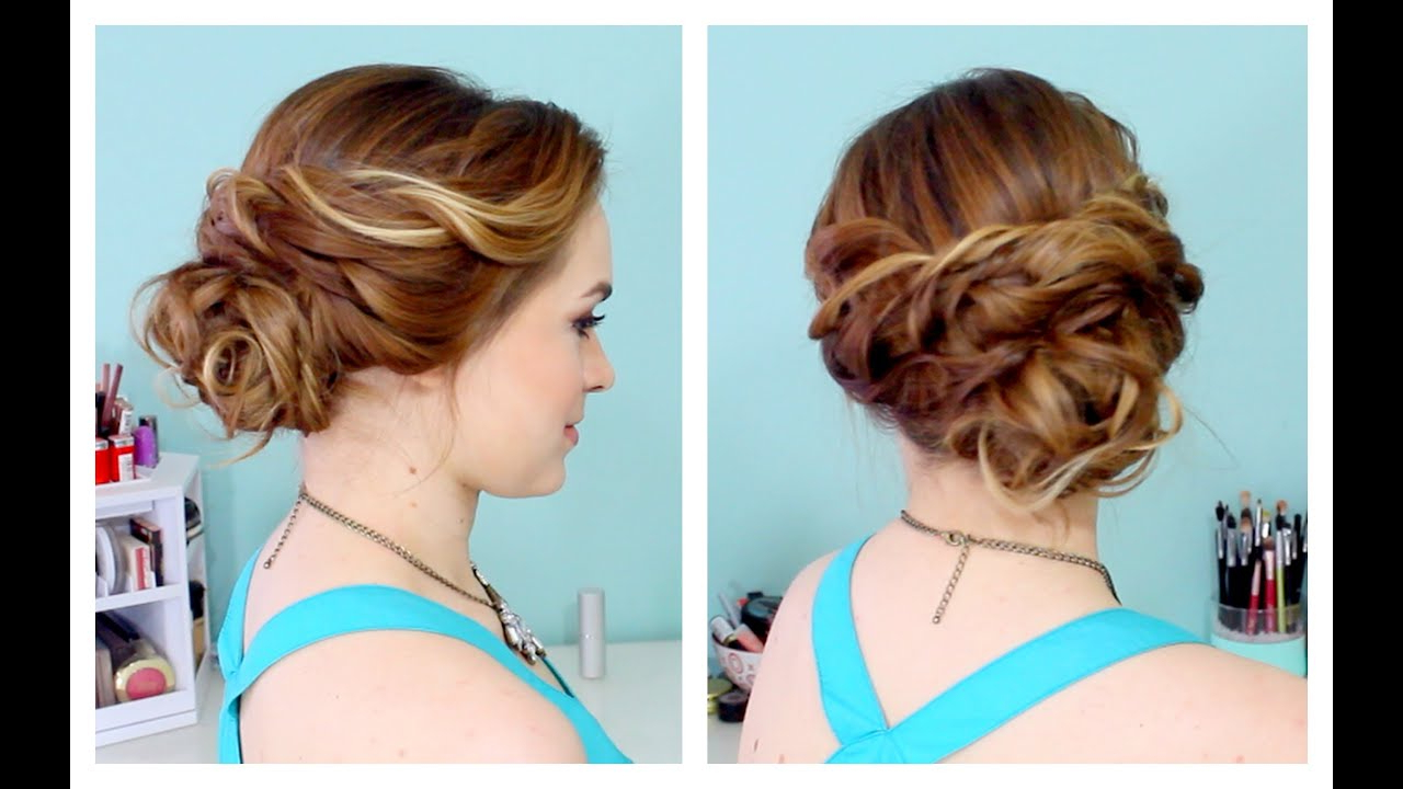 Quick Side Updo For Prom! (Or Weddings! :d) – Youtube For Most Popular Curly Knot Sideways Prom Hairstyles (View 16 of 20)