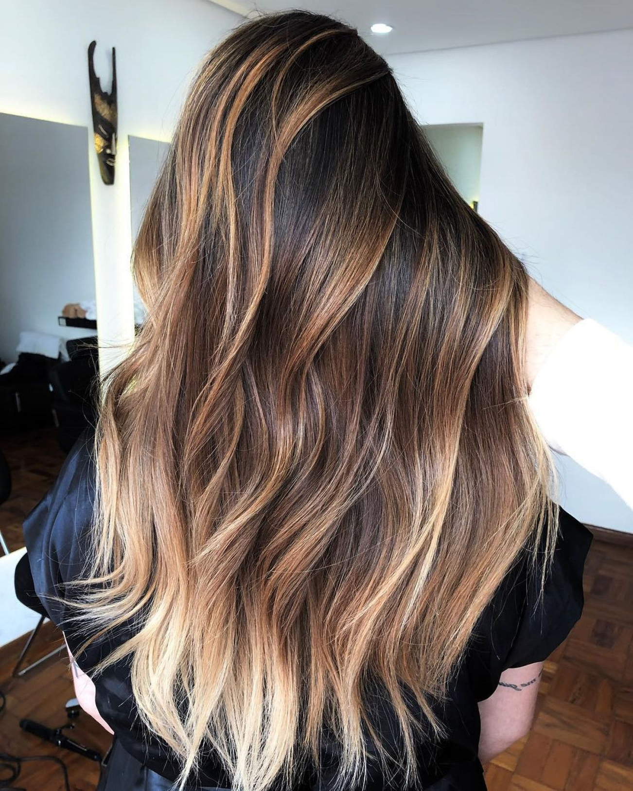 Recent Balayage Hairstyles For Long Layers Inside Hairstyles : Balayage Dark Hair Front Latest Balayage Honey Blonde (Gallery 13 of 20)