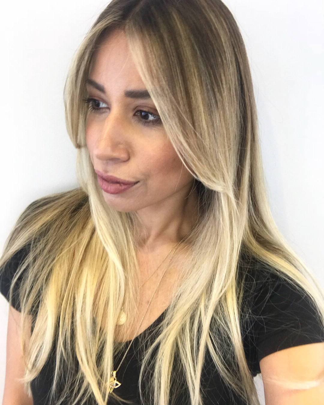 Recent Long Dark Hairstyles With Blonde Contour Balayage Throughout Hair Contouring With Balayage – How To Go From Dark To Blonde With (View 10 of 20)