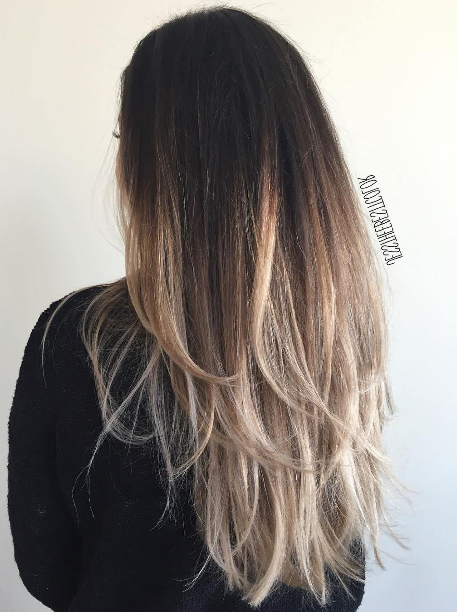 Recent Long Layered Ombre Hairstyles Inside Fashion : Blonde Ombre On Black Hair Most Captivating 80 Cute (View 13 of 20)