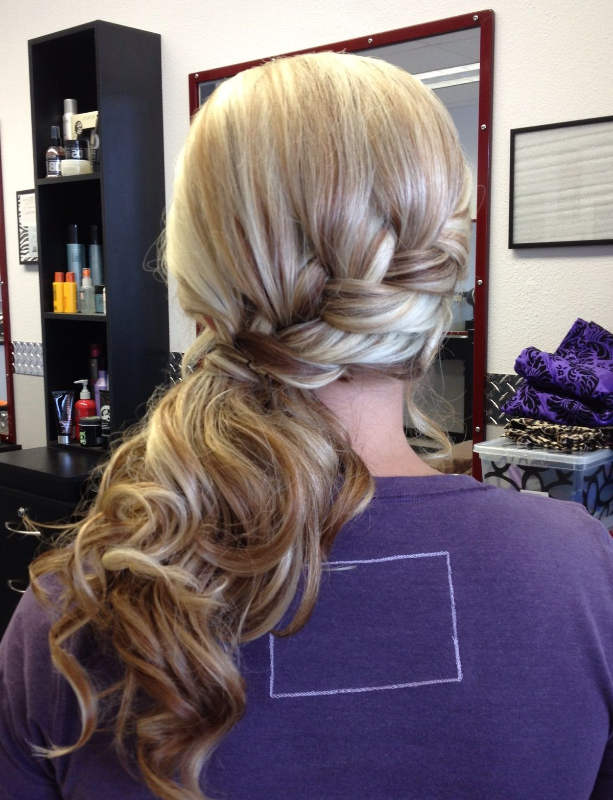 Featured Photo of Low Curly Side Ponytail Hairstyles For Prom