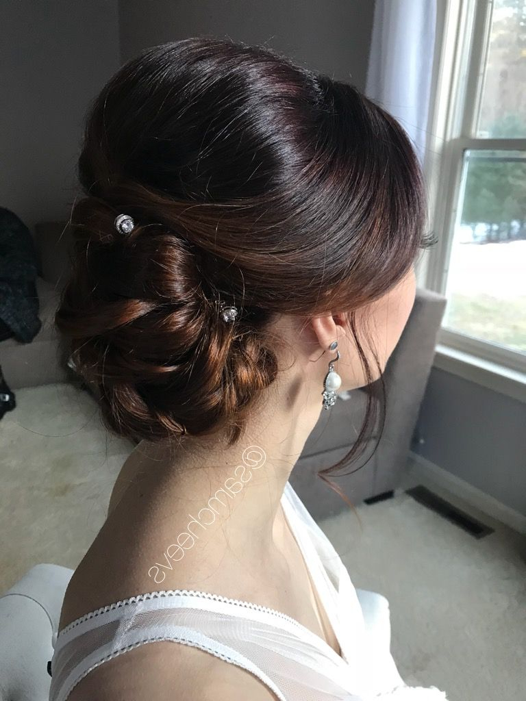 Recent Low Pearled Prom Updos With 2018 Wedding Hair Styles / Hair For Brides Bridesmaids Prom Updos (Gallery 2 of 20)