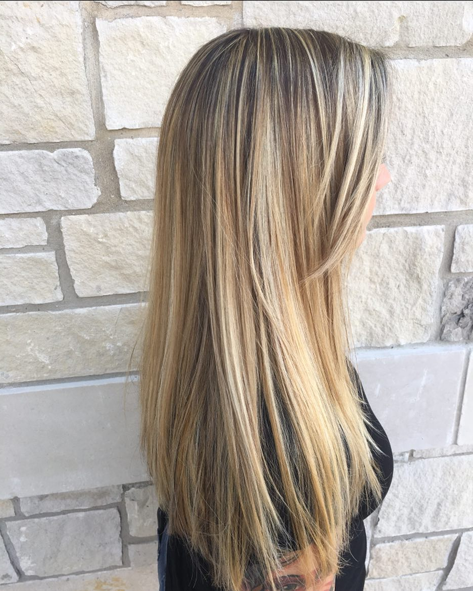 Recent Straight Across Haircuts And Varied Layers Inside 26 Prettiest Hairstyles For Long Straight Hair In  (View 16 of 20)