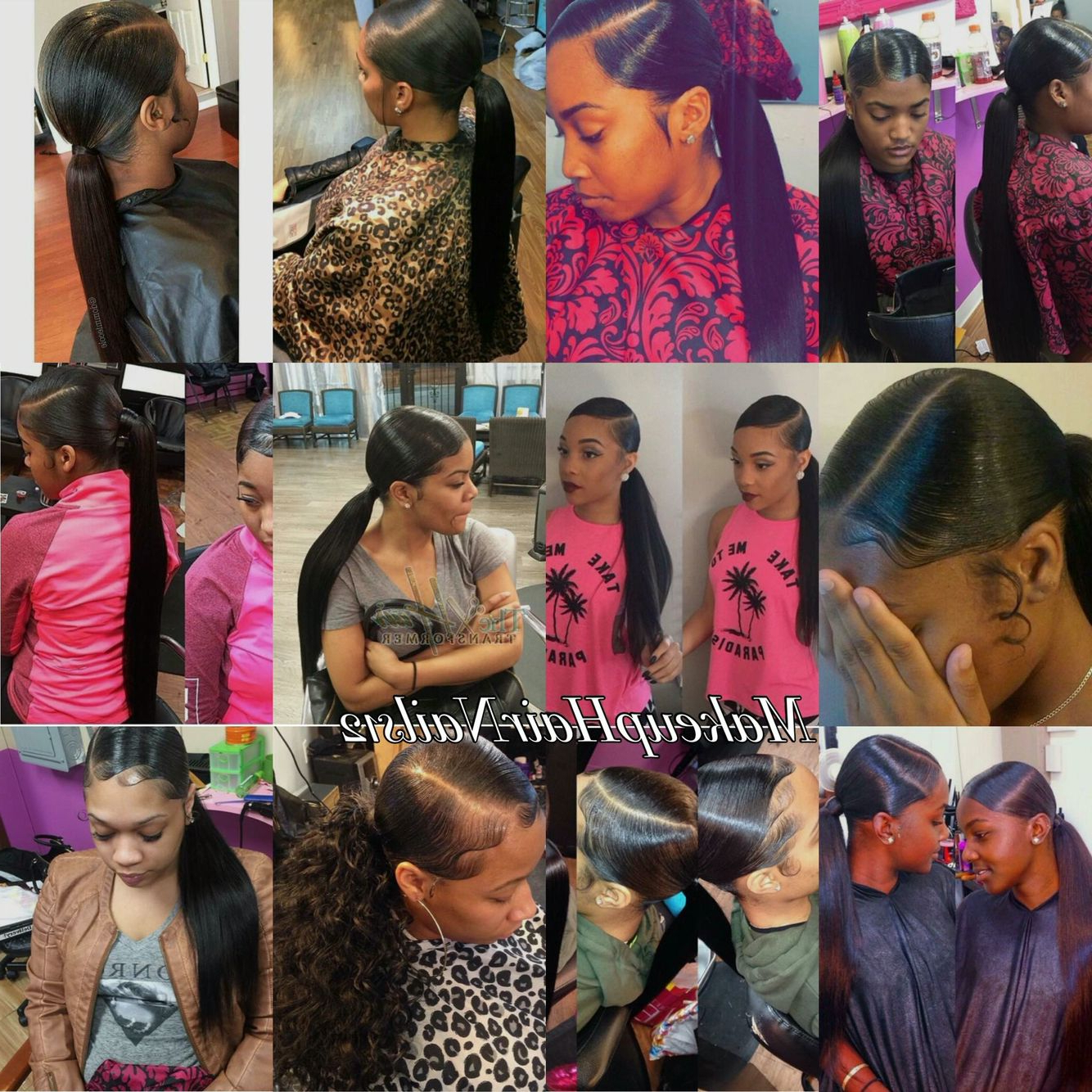 Sleek Side Part Ponytail (Gallery 6 of 20)