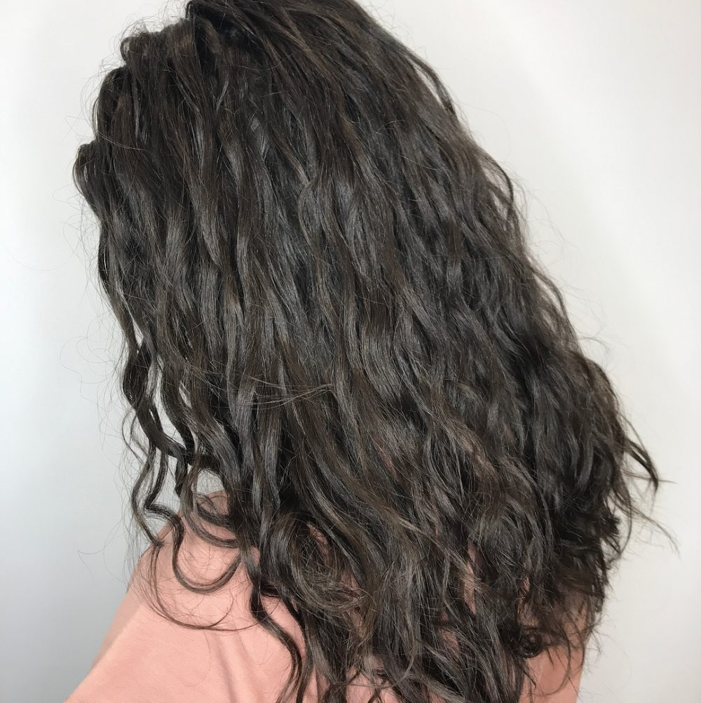 Top 23 Long Curly Hair Ideas Of 2019 For Well Known Long Layered Light Chocolate Brown Haircuts (Gallery 17 of 20)