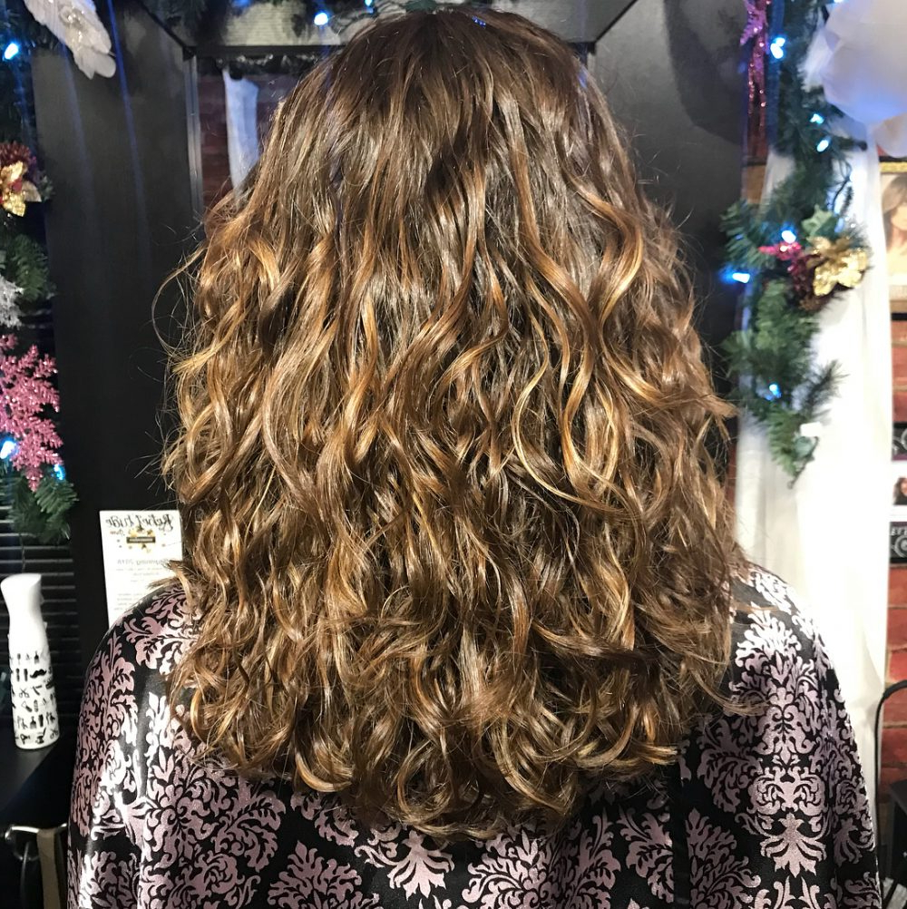 Top 23 Long Curly Hair Ideas Of 2019 Within Well Known Long Layered Waves Hairstyles (Gallery 14 of 20)