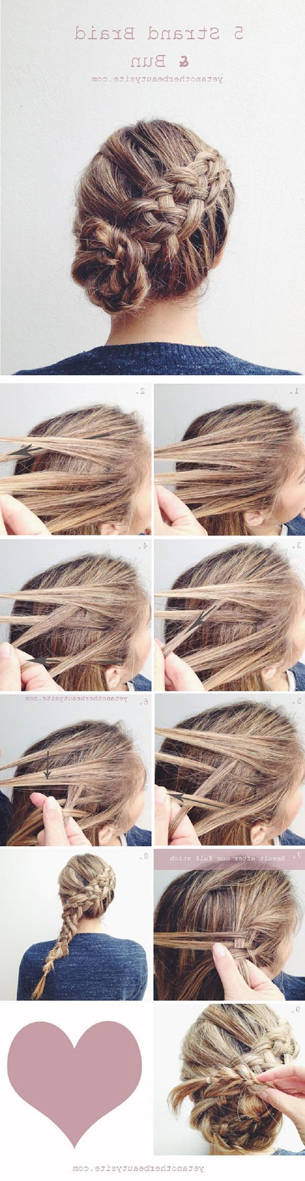 Trendy Diagonal Braid And Loose Bun Hairstyles For Prom Throughout Braids And Buns Are Two Hairstyles That, On Their Own, Will Probably (View 18 of 20)