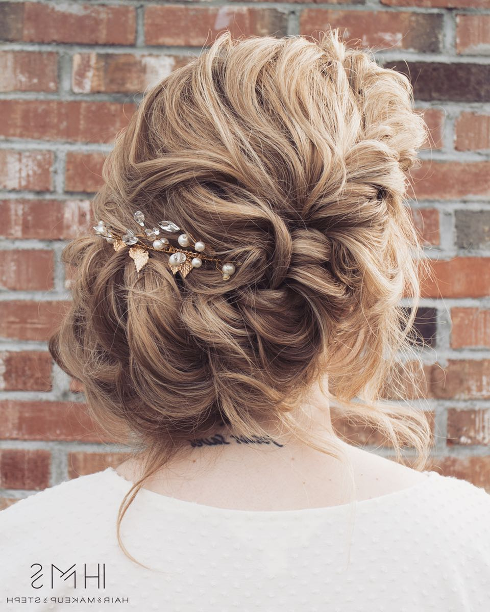 Trendy Side Bun Prom Hairstyles With Jewelled Barrettes Within 10 Gorgeous Prom Updos For Long Hair, Prom Updo Hairstyles (View 9 of 20)