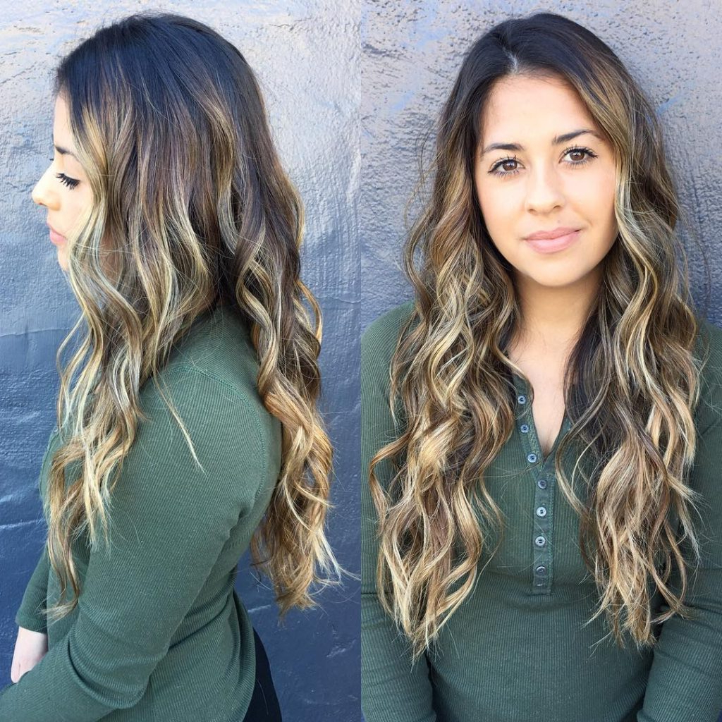 Trendy Textured Long Layers For Long Hairstyles With Regard To Women's Undone Wavy Texture On Long Layers With Bronde Color Melt (View 17 of 20)