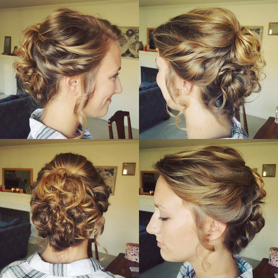 Trendy Twisting Braided Prom Updos Throughout 20 Gorgeous Prom Hairstyle Designs For Short Hair: Prom Hairstyles (View 17 of 20)