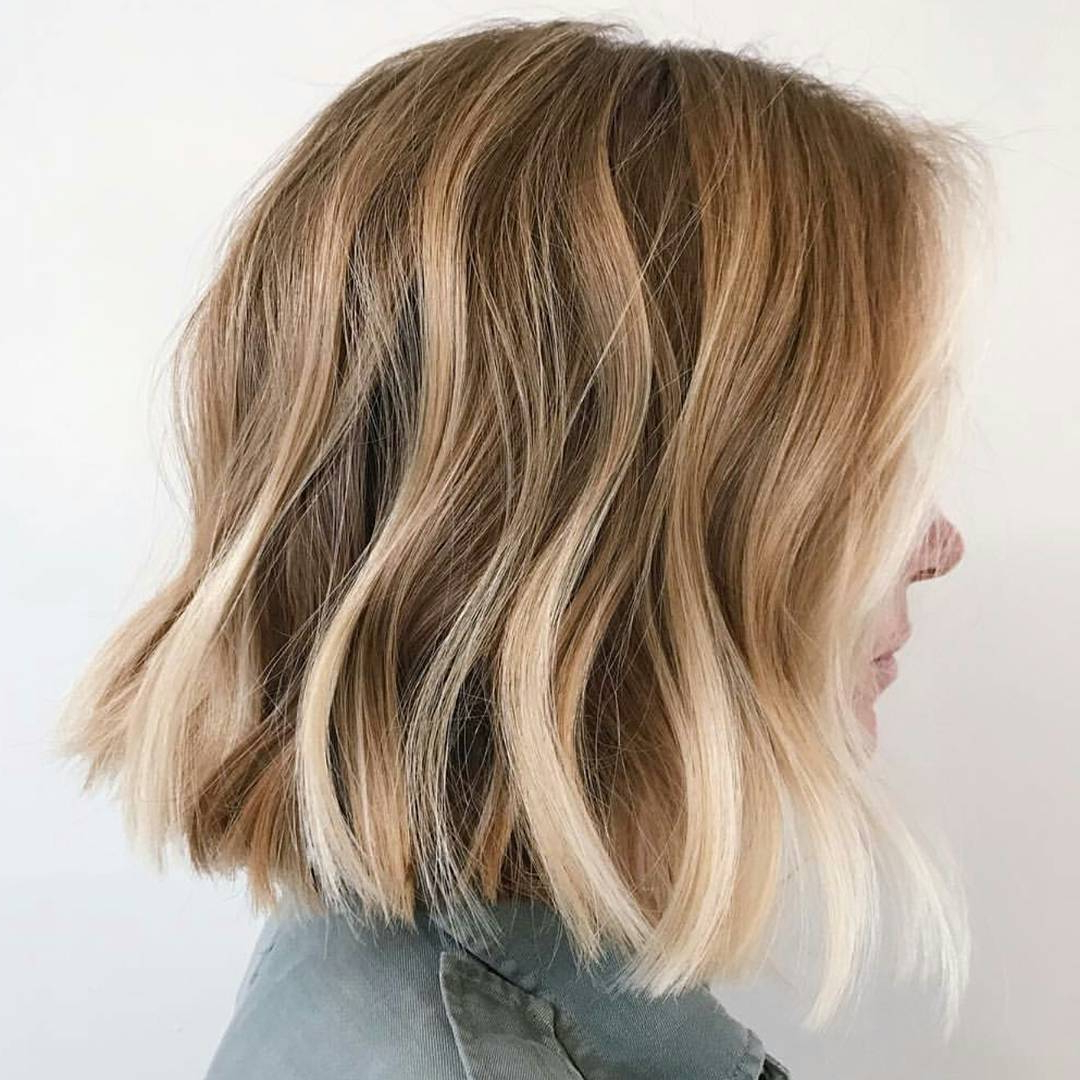 Trendy White Blonde Flicked Long Hairstyles Inside 10 Wavy Lob Hair Styles – Color & Styling Trends Right Now! (View 17 of 20)
