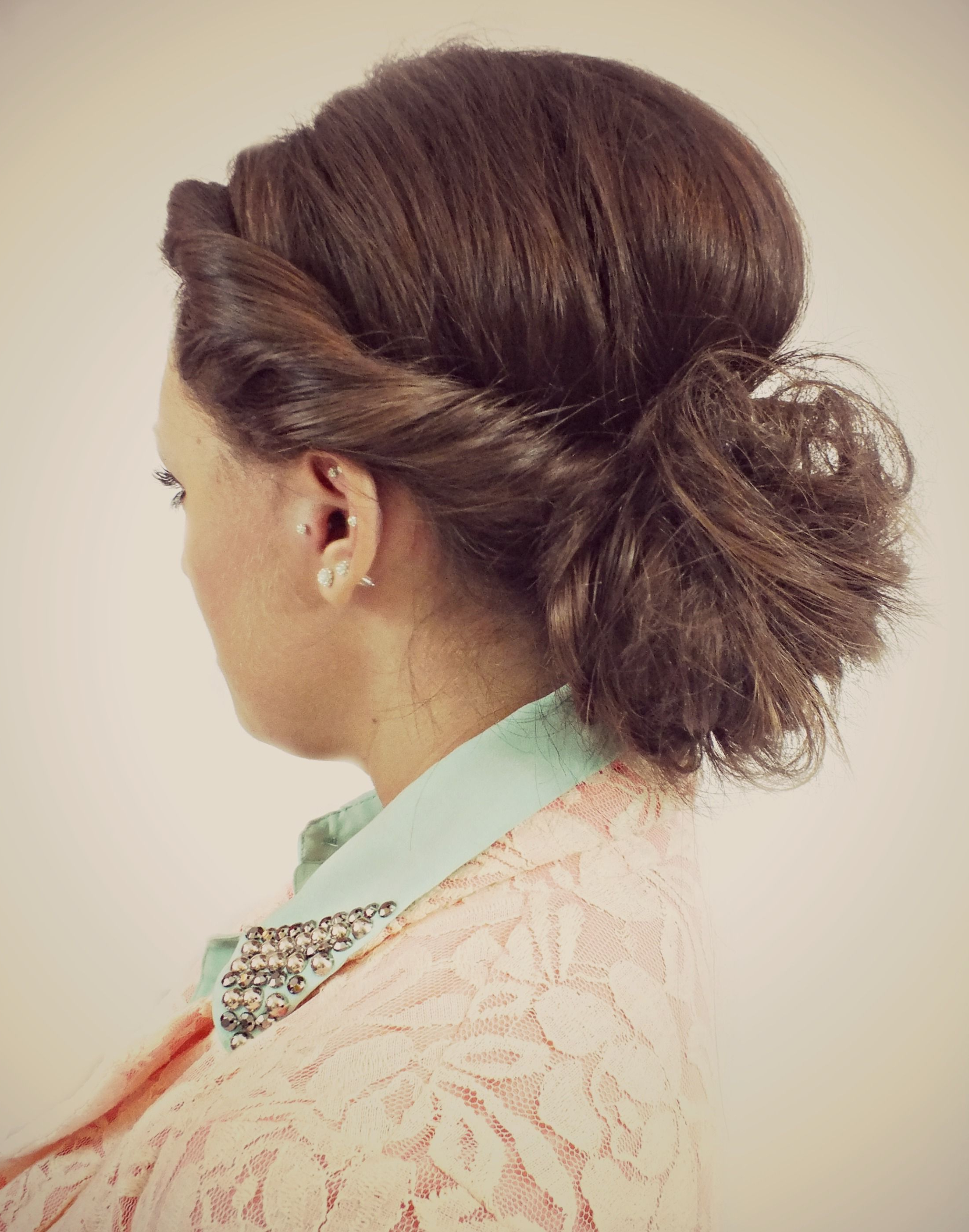 Twisted Messy Bun Hairstyle (View 16 of 20)