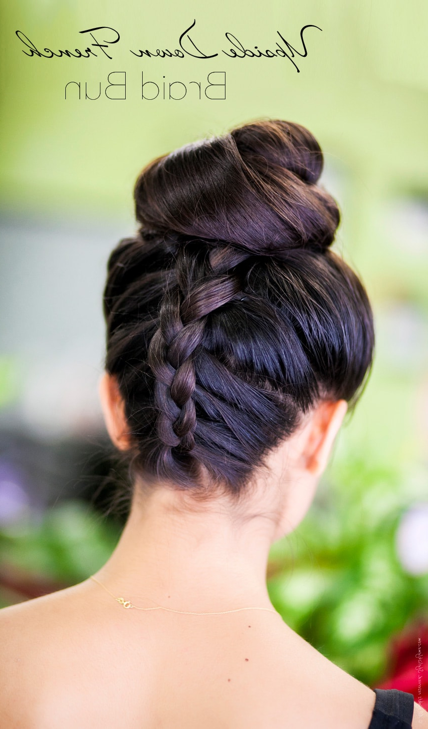 Photo Gallery Of Upside Down Braid And Bun Prom Hairstyles