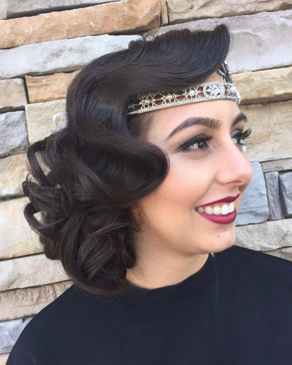 Vintage Glam: 18 Roaring 20S Hairstyles With Regard To Well Liked Flowing Finger Waves Prom Hairstyles (Gallery 7 of 20)
