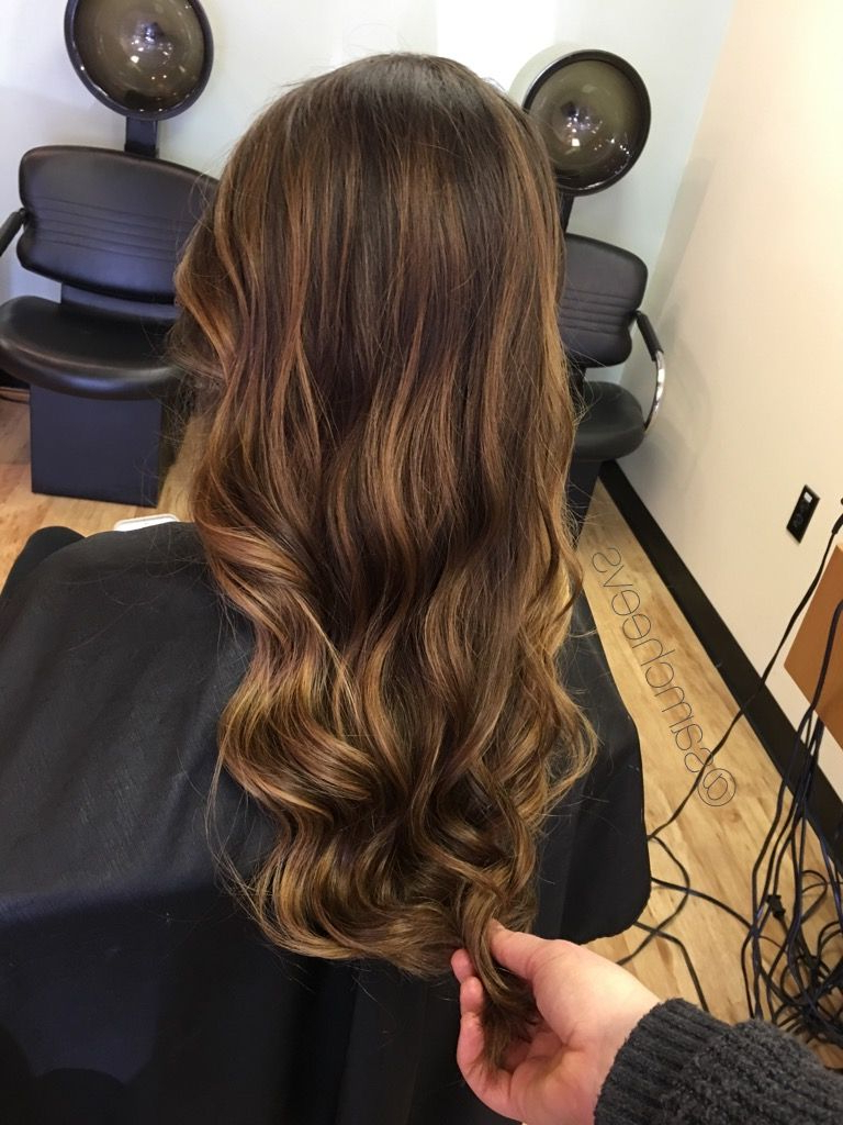 Warm Chocolate Caramel Honey Tone For Dark Hair Types / Highlights Intended For Most Recent Warm Toned Brown Hairstyles With Caramel Balayage (Gallery 9 of 20)