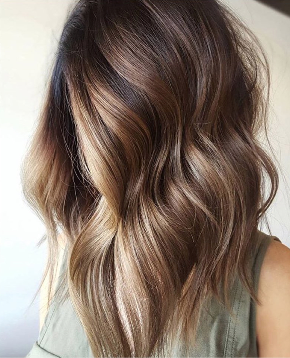 Warm Tones, Cool Finish. We're Loving This #balayage Courtesy Of With Regard To Well Known Warm Toned Brown Hairstyles With Caramel Balayage (Gallery 5 of 20)