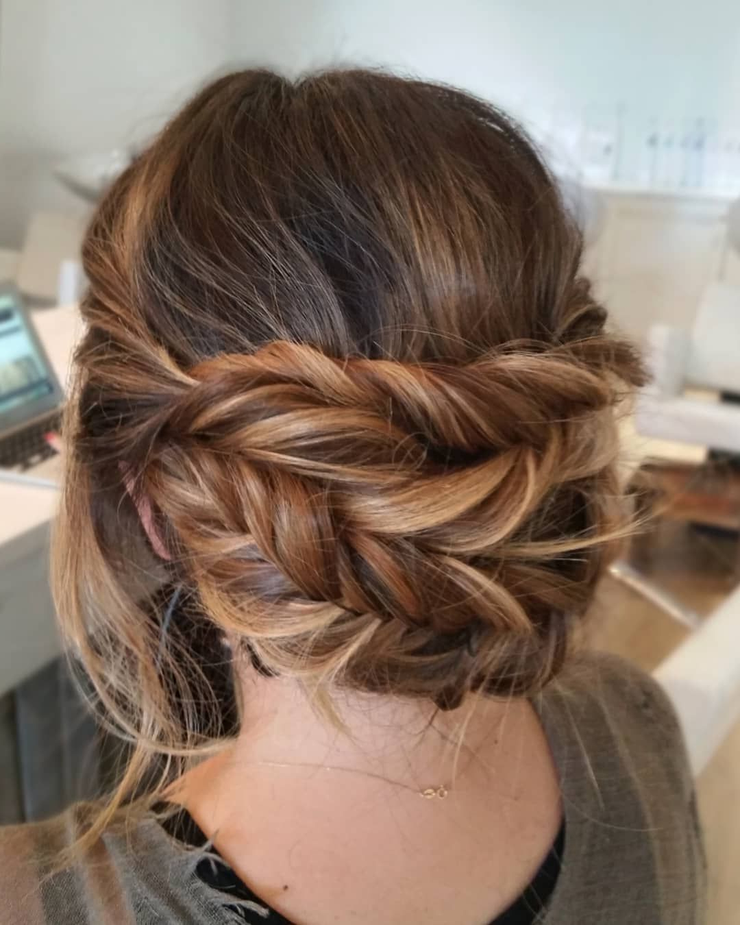 Wedding Hairstyles Regarding Preferred Romantic Prom Updos With Braids (View 18 of 20)