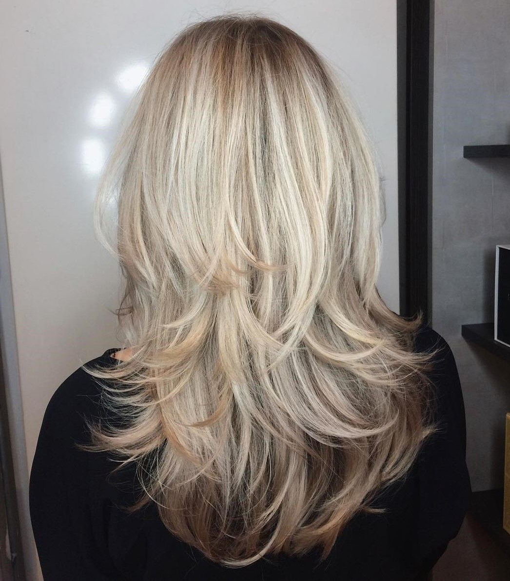 Well Known Blonde Textured Haircuts With Angled Layers For 80 Cute Layered Hairstyles And Cuts For Long Hair In 2019 (Gallery 1 of 20)