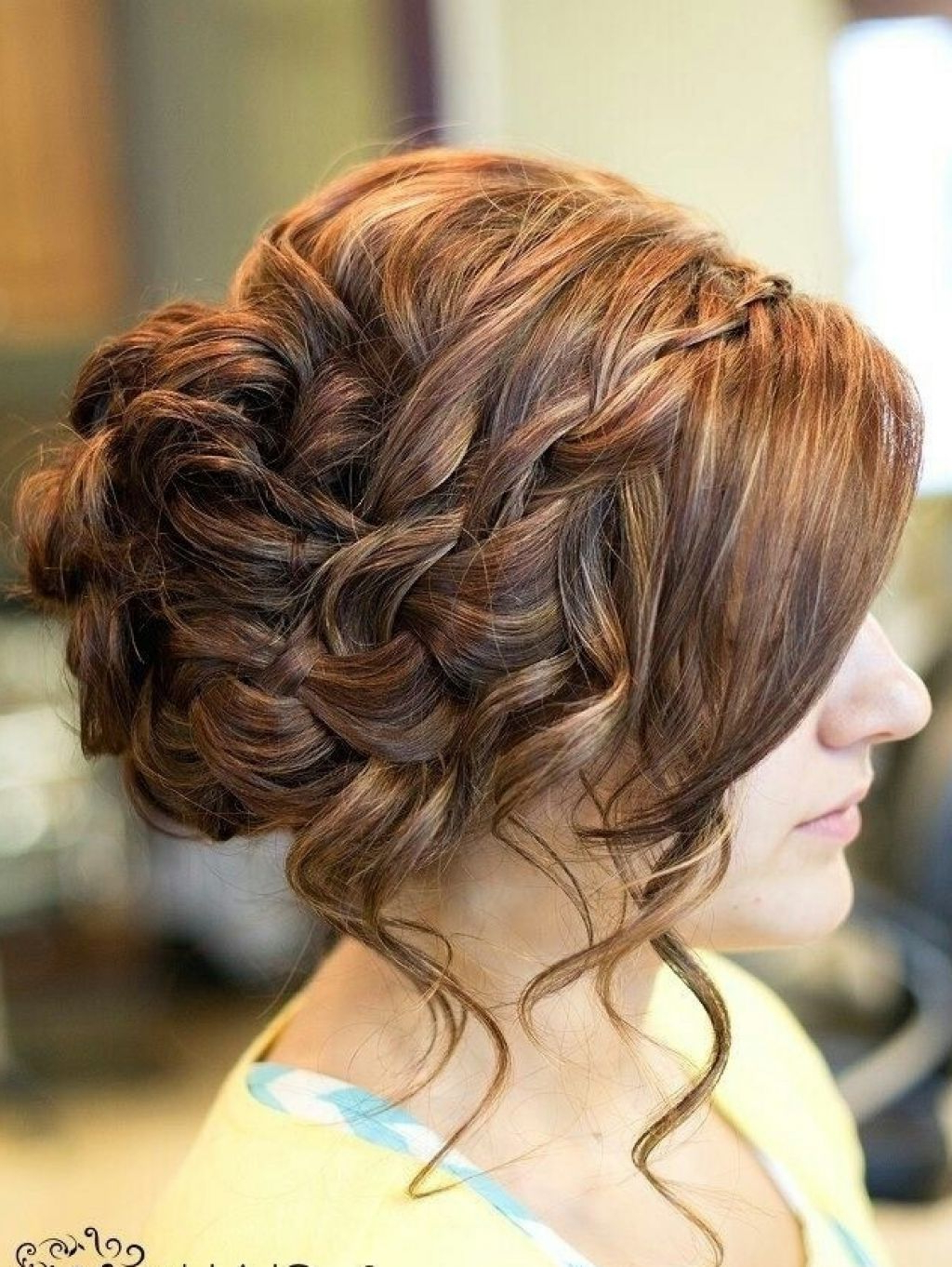 Well Known Braid And Fluffy Bun Prom Hairstyles With Regard To Messy Bun For Prom Black Hair (View 12 of 20)