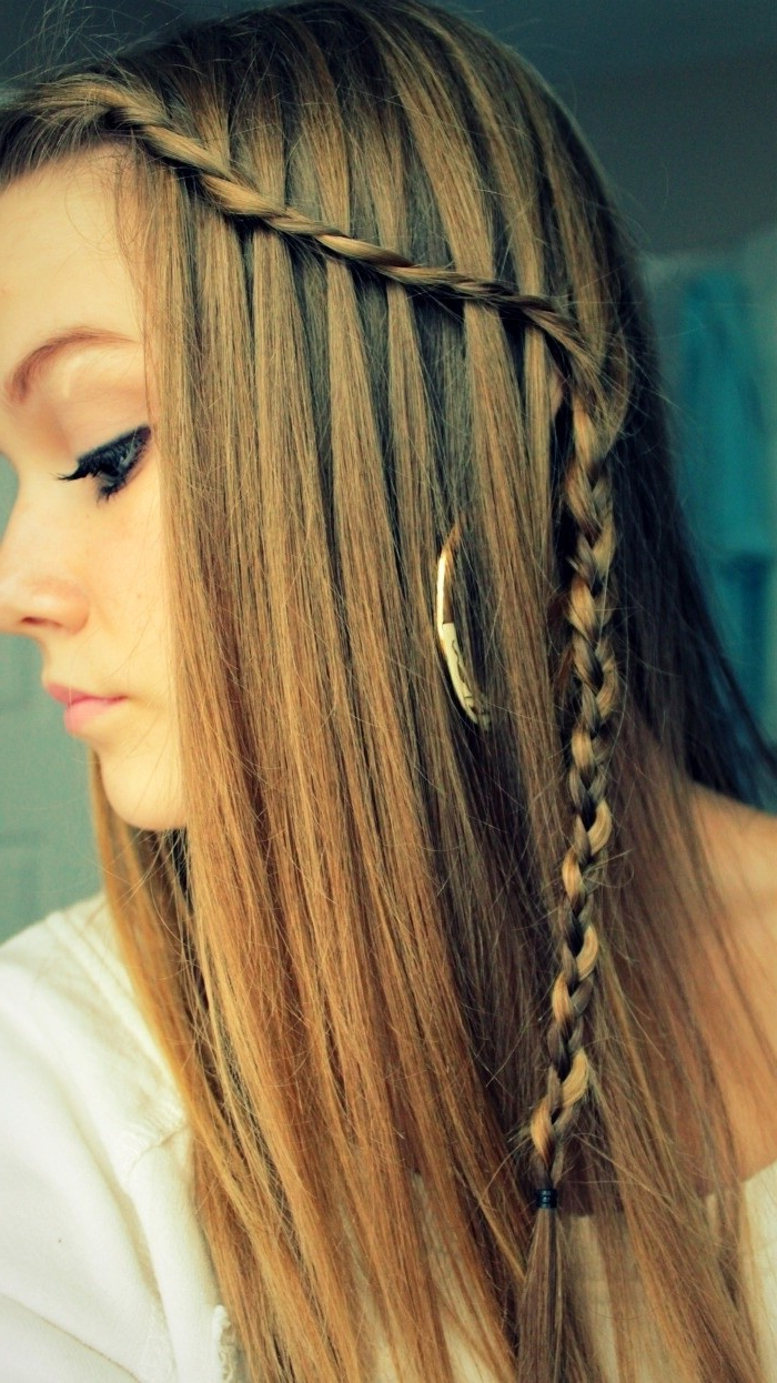 Well Known Chic Waterfall Braid Prom Updos With 10 Best Waterfall Braids: Hairstyle Ideas For Long Hair – Popular (Gallery 10 of 20)