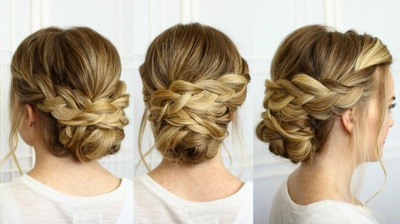 Well Known Classic Prom Updos With Thick Accent Braid For Soft Braided Updo (View 13 of 20)