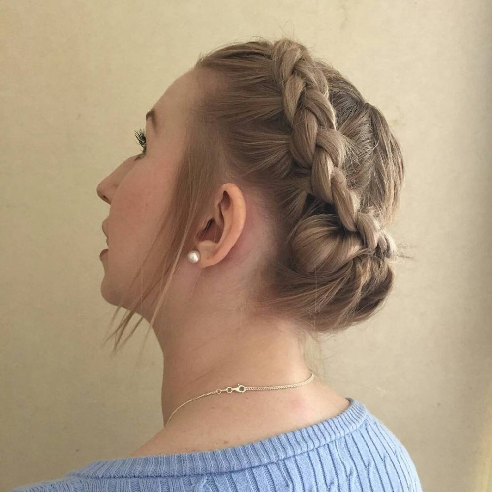 Well Known Dutch Braid Prom Updos Inside 18 Gorgeous Prom Hairstyles For Short Hair For (View 19 of 20)