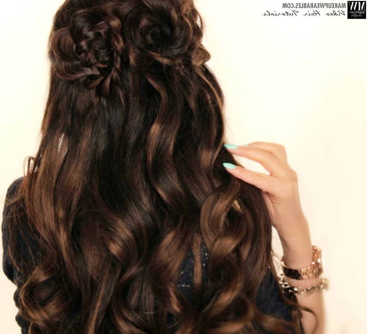 Well Known Floral Braid Crowns Hairstyles For Prom Inside Spring Flower Braid Half Up Half Down Hairstyle (View 20 of 20)